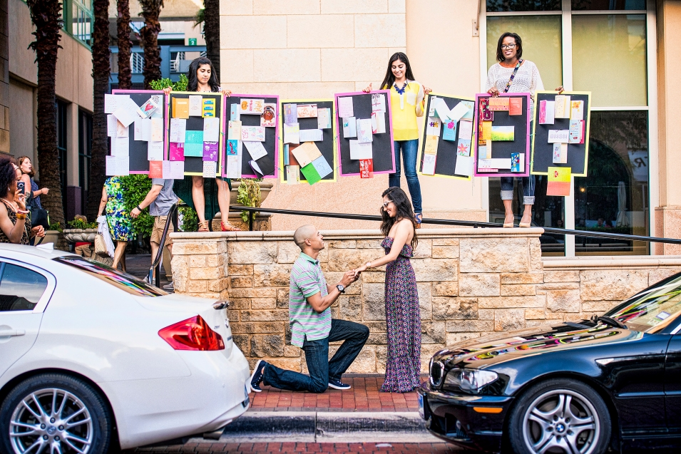This couple got engaged at The Shops at Legacy - aggiebrooks.com