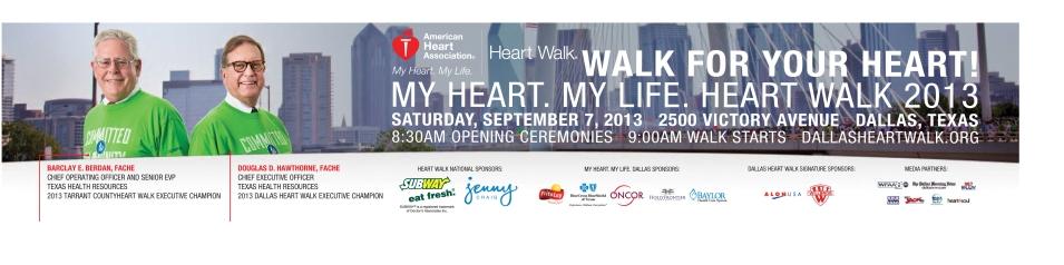 Texas Health Resources, aggiebrooks.com, bus wrap for Texas Health Resources Heart Walk 2013 Campaign