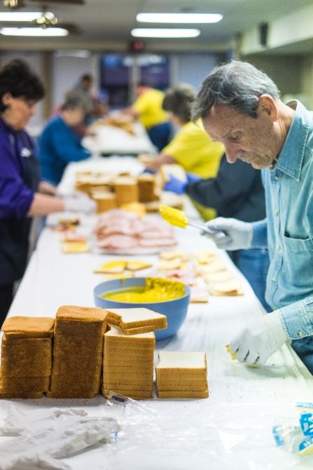 Trinity Cumberland Presbyterian Church, March 2015, Sandwiches for the Presbyterian Night Shelter Event