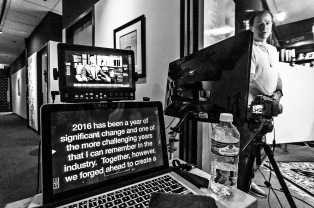 MacBook Teleprompter SetUp OnSet at AMS Pictures